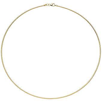 Chapado en oro de plata oro collar 925 collar de cadena de 45 cm 1,5 mm