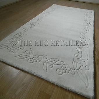 Rugs -Floral Border - Cream