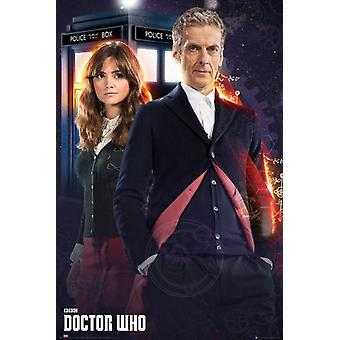 Doctor Who - 12th Doctor and Clara Poster Poster Print