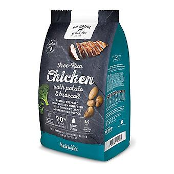 Rossi mulini non andare nativo pollo/patate/Broccoli nessun alimento di cane asciutto di 12kg di grano
