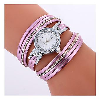 Ladies Silver Watch Women Woman Smart Watches Double Purple Jewellery Strap