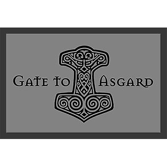 Gate to Asgard floor mats with non-slip PVC back