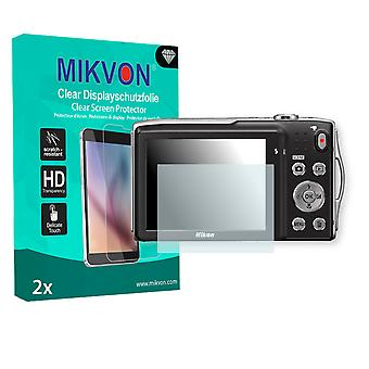 Nikon COOLPIX S3300 Screen Protector - Mikvon Clear (Retail Package with accessories)