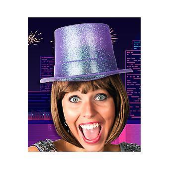 Brokat fioletowy kapelusz kapelusze