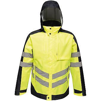 Regatta Mens Hi Vis Pro Waterproof Insulated Workwear Jacket