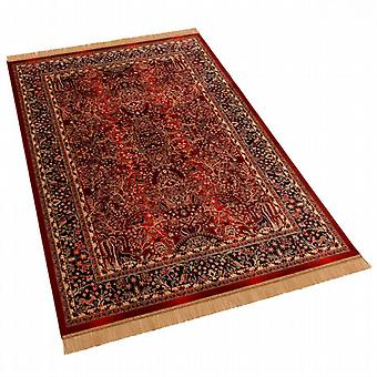 Large Red Artificial Silk Persian Tree of Life Rug H262/12 160 x 230cm