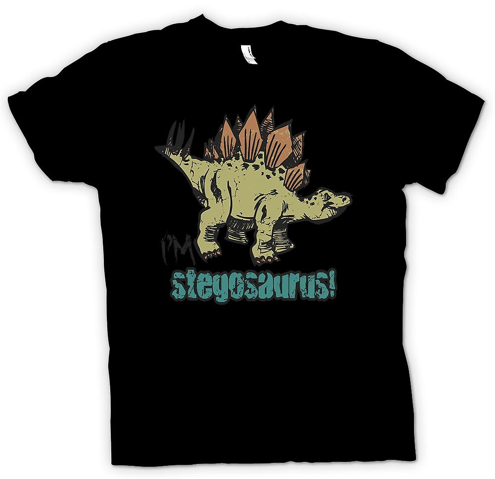 Womens T-shirt - Im Stegosaurus - Cool Dinosaur