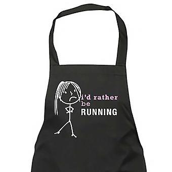Ladies I'd Rather Be Running Apron