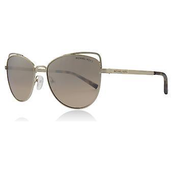 Michael Kors MK1035 12128Z Licht Gold MK1035 Katzen Augen Sonnenbrillen Kategorie 2 Objektivgröße 55mm