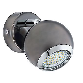 Eglo - Bimeda 1 proyector luz cromo negro EG31005