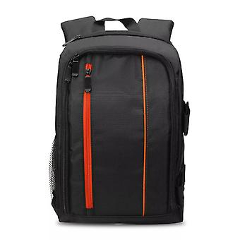 Spacious camera bag with Raincover, Orange