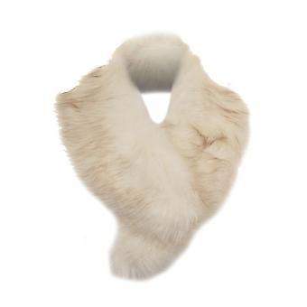 Ladies Luxury Faux Fur Fashion Collar Stole Fluffy Winter Scarf Warm Shawl Wrap