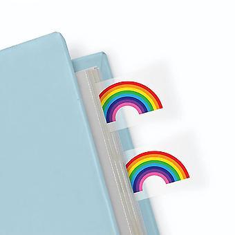 Sett med regnbue side markør