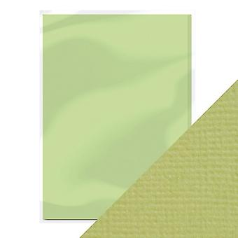 Craft Perfect A4 Weave Textured Card Pistachio Green Tonic Studios
