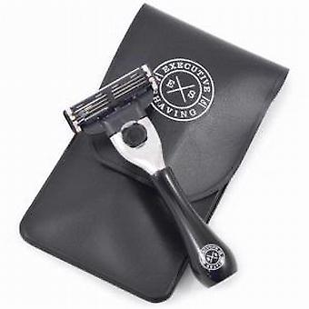 Executive Shaving Company Black Travel Mach3 Razor & Pouch