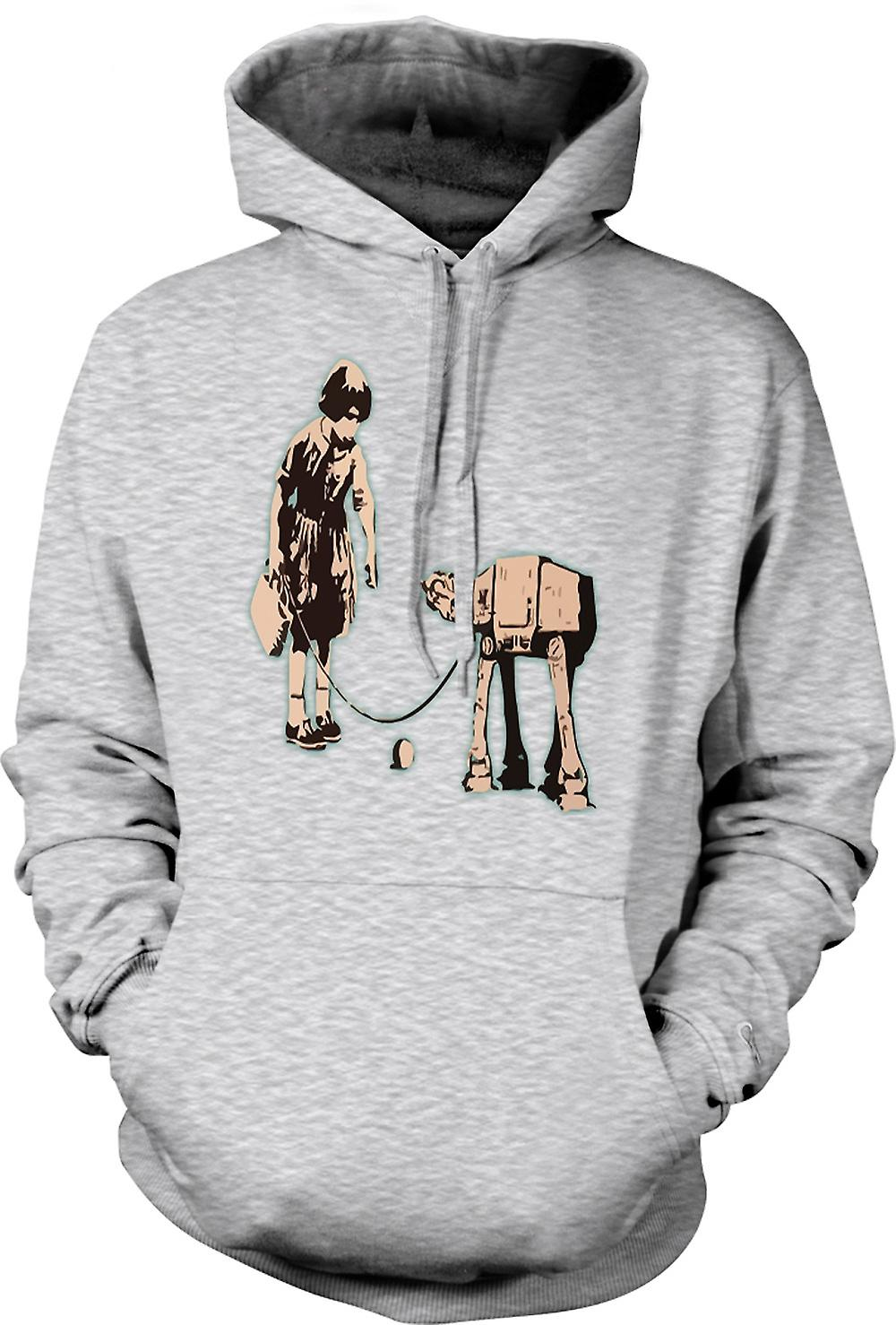 Mens Hoodie - Banksy Graffiti Art - Fetch