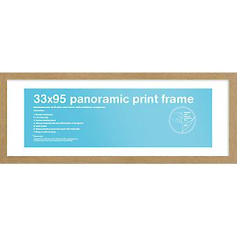 Eton Oak ramme panoramautsikt plakat / ut rammen