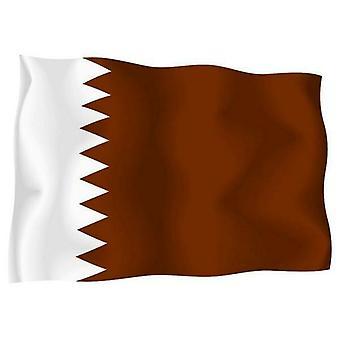 Sticker Autocollant Drapeau Exterieur Vinyle Voiture Moto Qatar Qatari