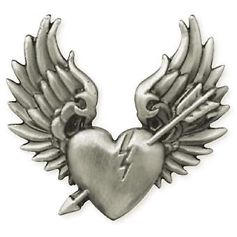 Antique Silver Concho 1 1 4 « Screwback Broken Heart 01 71504