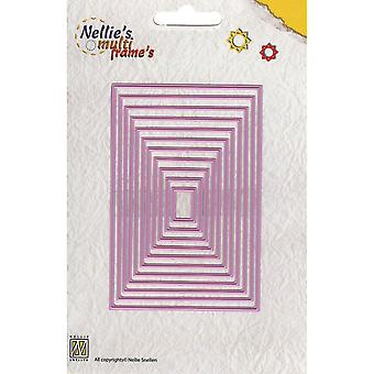 Nellie's Choice Multi Frame Dies Straight Rectangle Mfd058