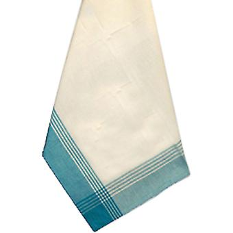 White & Turquoise Stripe Mcleod Towel 20