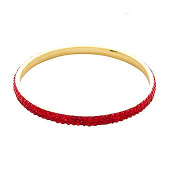Butler & Wilson Two Row Crystal Bangle - Red