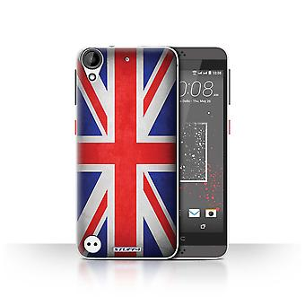 STUFF4 Case/Cover for HTC Desire 630/Great Britain/British/Flags