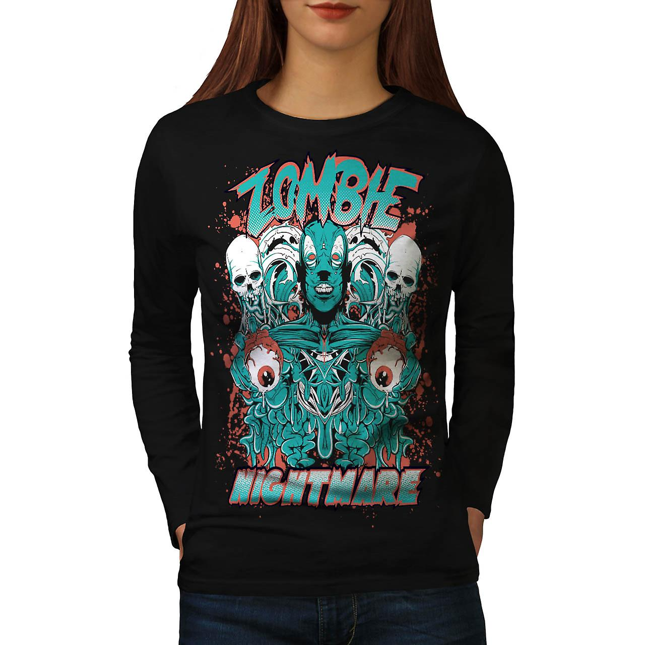 Dead Zombie Nightmare Evil Gang Women Black Long Sleeve T-shirt | Wellcoda