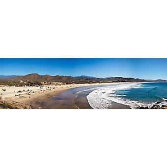 Turistas en Playa Cerritos Todos Santos Baja California Sur México cartel imprimir