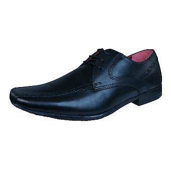 Nastro rosso Rowley Mens scarpe stringate in pelle formale - nero