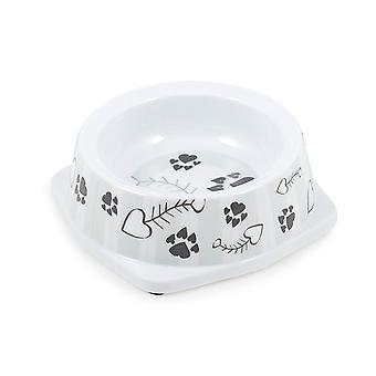 Melamin katt maträtt grå Stripesmall 150ml (förpackning med 6)