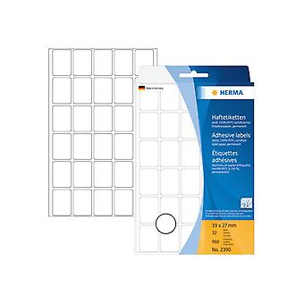 Multi-purpose labels Herma 19x27mm white 960 pcs.