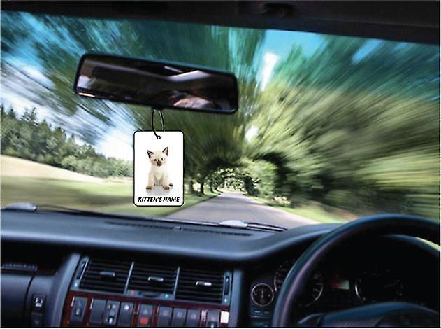 Ambientador de coche personalizado gatito siamés