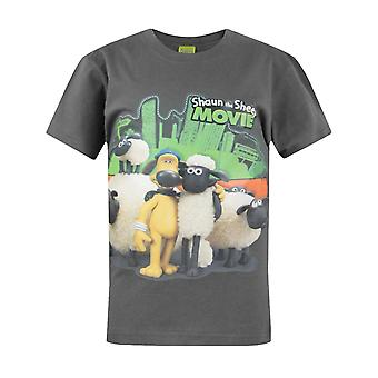 Boys Shaun The Sheep T-shirt | Shaun The Sheep Tshirt | Official | MOVIE | Youth | 9-10 | DARK GREY