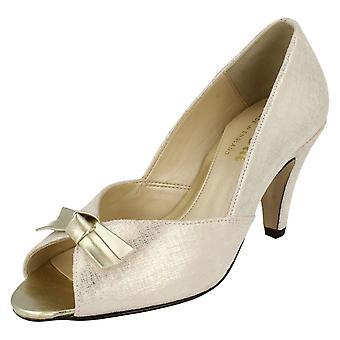 Damer Van Dal formel Peep Toe hæle med bue Trim Heydon