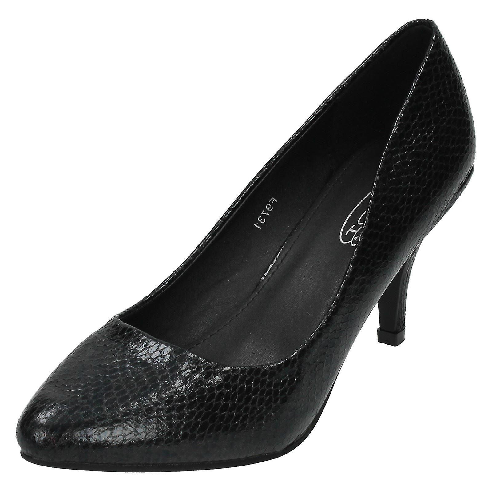 Ladies Spot il serpente stampa Corte scarpe F9731 | Up-to-date Styling  | Gentiluomo/Signora Scarpa