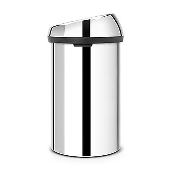 Brabantia Touch Bin, 60L in Brilliant Steel