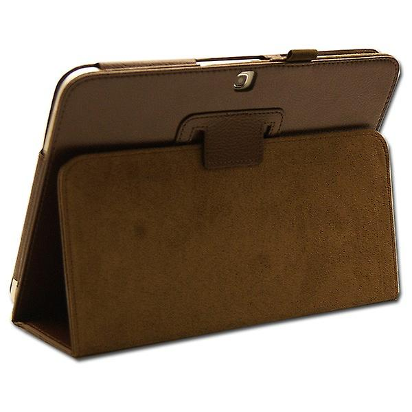 Protection case Brown for Samsung Galaxy tab 3 10.1 P5200 P5210 + foil