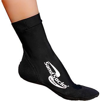 Sand Socken Sportsocken klassische hohe Top Neopren - Schwarz