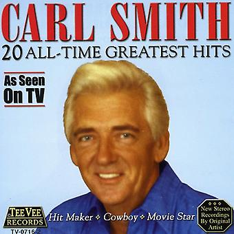 Carl Smith - 20 alle tid Greatest Hits CD] USA importerer
