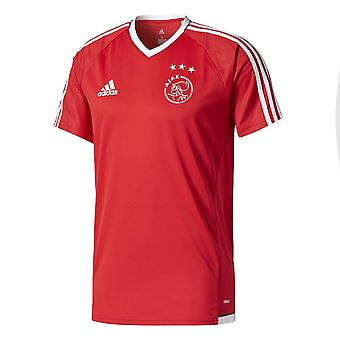 2017-2018 Ajax Adidas Training Shirt (Red) - Kids