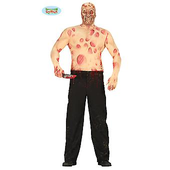 Freddy above without costume nightmare horror Elmstreet mens one size