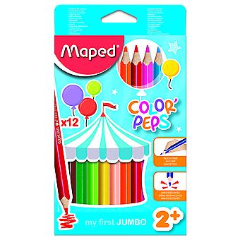 Maped Estuche 12 Lápices Colores Jumbo (Toys , School Zone , Drawing And Color)