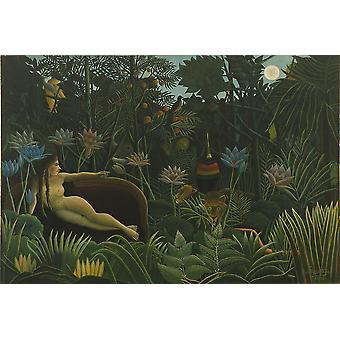 Henri Rousseau - The Woods Poster Print Giclee
