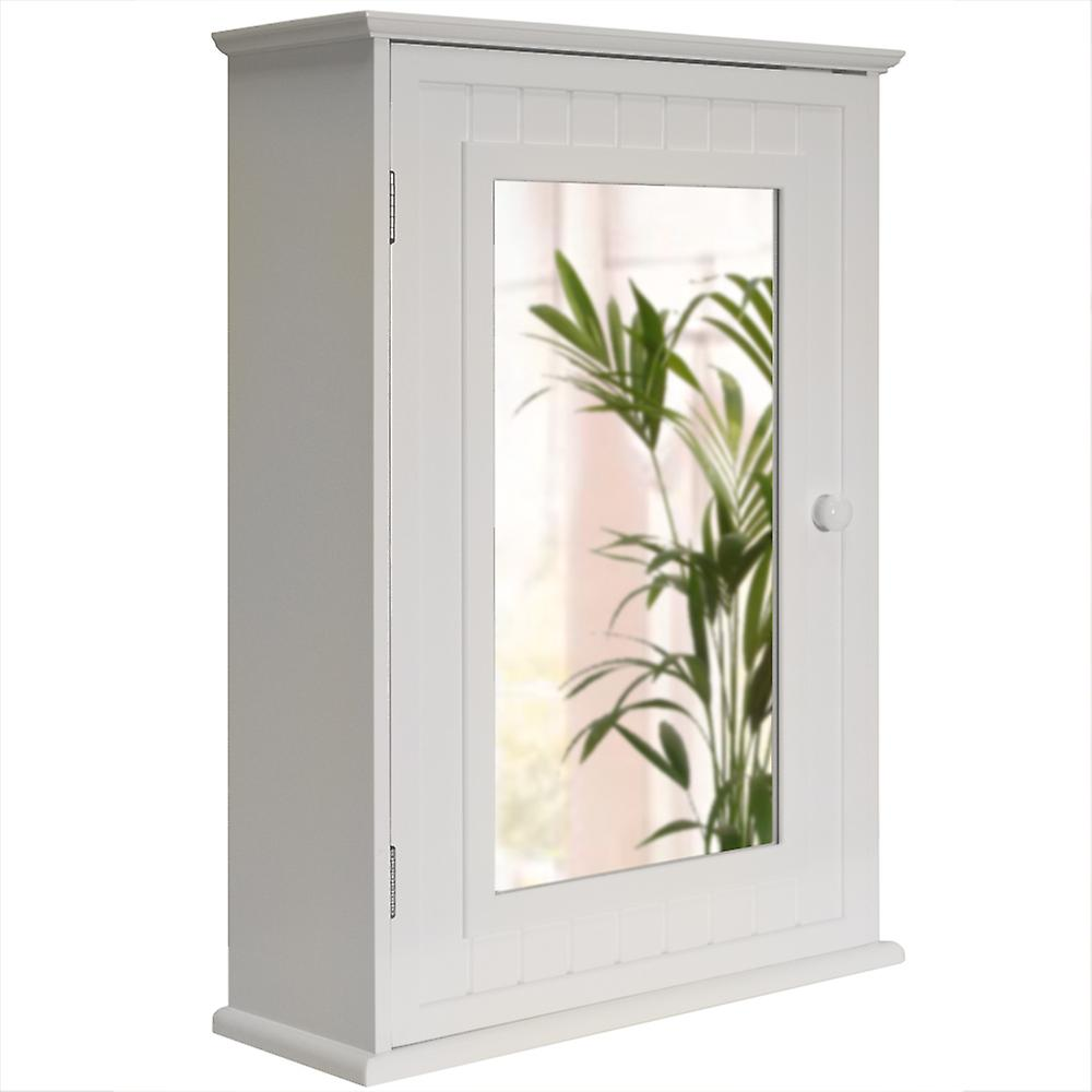 Tallula - Mirror Door Bathroom Wall Storage Cabinet - White