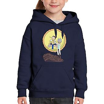 Rick And Morty Science King Kid's Hooded Sweatshirt