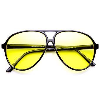Retro 80 'er stil drivende linse XL store plast Aviator solbriller