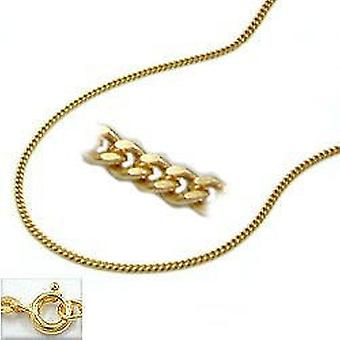 Necklace gold 375 tank chain, chain 42 cm, 9 KT GOLD spring ring clasp