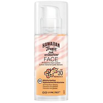 Hawaiian Tropic Ht Sun Protector SPF 30 Face Lotion Silk