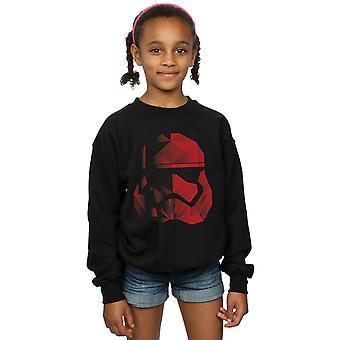 Star Wars Girls The Last Jedi Stormtrooper Red Cubist Helmet Sweatshirt